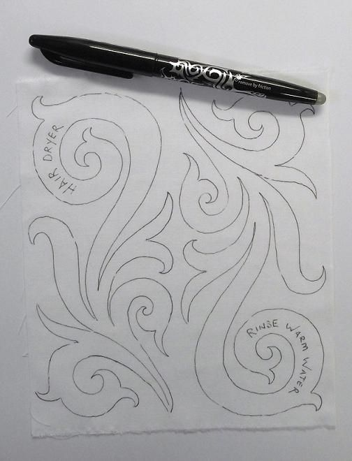 applying design to fabric