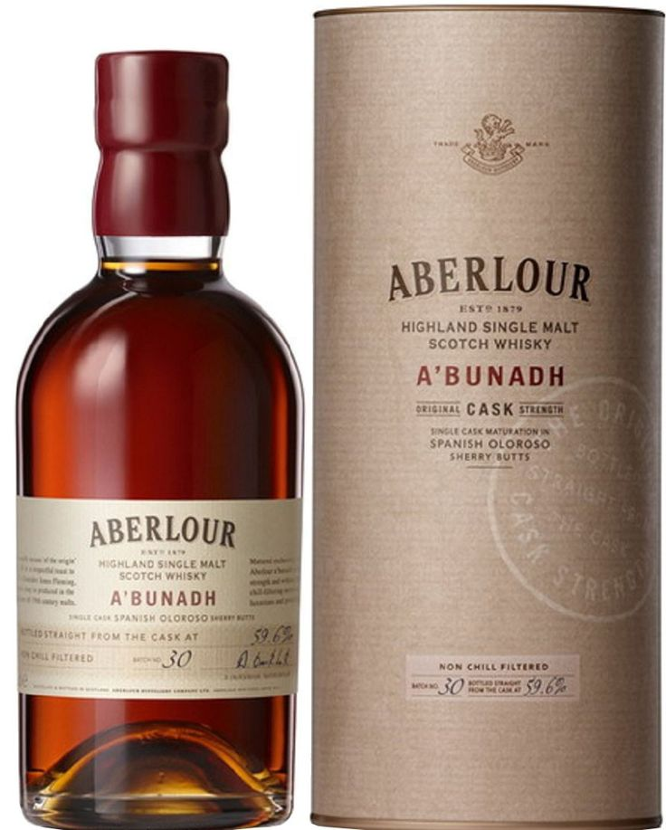 Aberlour A'bunadh Single Malt Scotch Whisky | @Caskers Made in tribute to an 1898 bottle of Scotch, this whisky earned the highest recommendation from Wine Enthusiast.