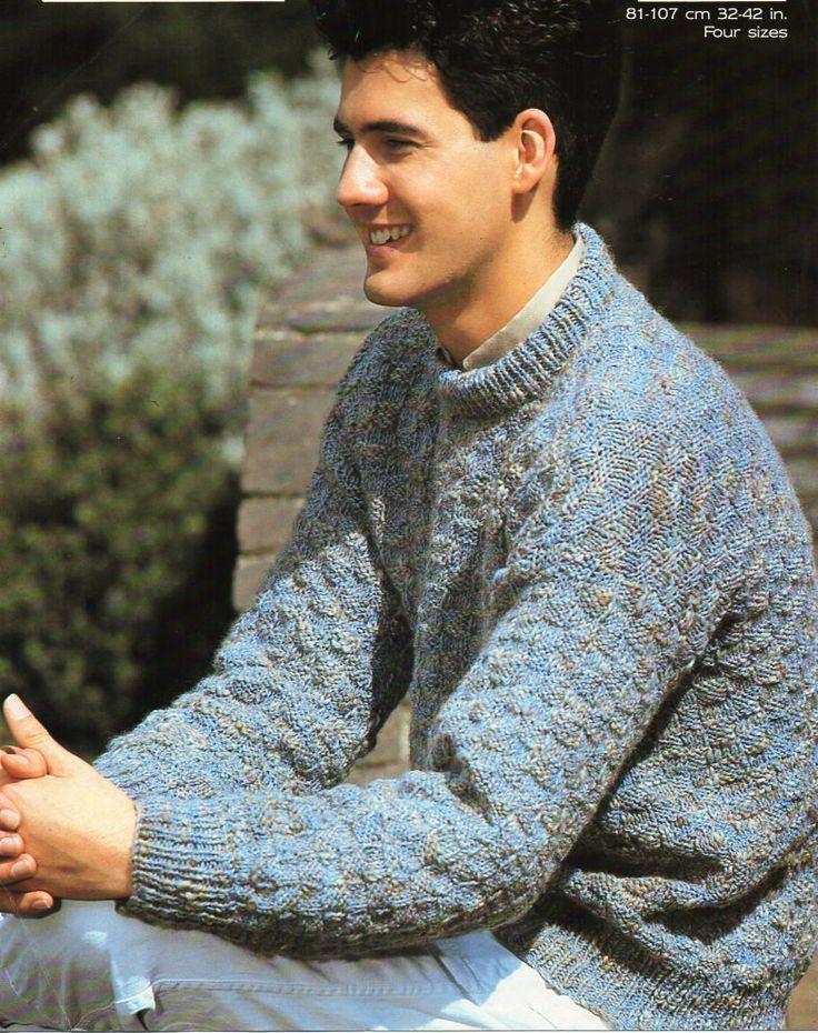 Knitting Pattern Mens Crew Neck Jumper : 287 best images about Vintage Mens knitting patterns / Mens Knit Patterns on ...