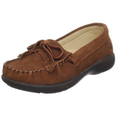 Peace Moccasins by Old Friend Women's Donna Cushioned Moccasin,Brown,9 W US Peace Moccasins by Old Friend. $44.95