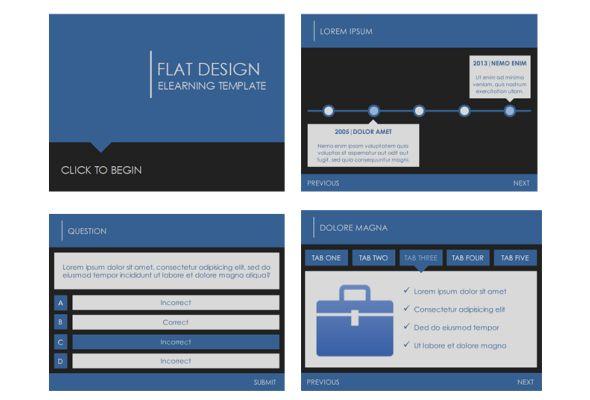 flat design template elearning templates pinterest. Black Bedroom Furniture Sets. Home Design Ideas