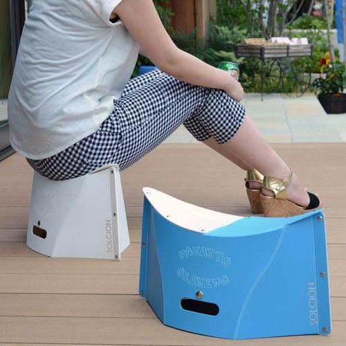折り紙のような折りたたみ椅子「PATATTO パタット」