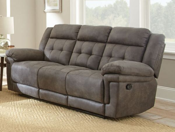 Pin by rebeccarcahill on Microfiber Sofa in 2019   Grey reclining ...