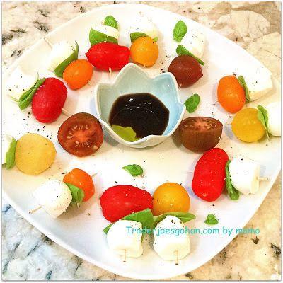 トレジョのエアルームトマトでカプレーゼ