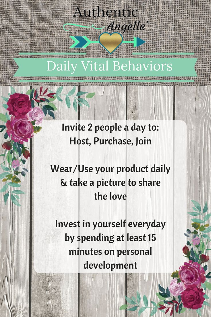 Daily Vital Behaviors for your business