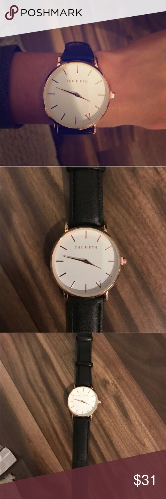 Watch Brand new beautiful 40mm gold face with black strap fashion watch! No box! Just watch 📌📍NOT DANIEL WELLINGTON, I DO IT FOR EXPOSURE📍📌 Daniel Wellington Accessories Watches