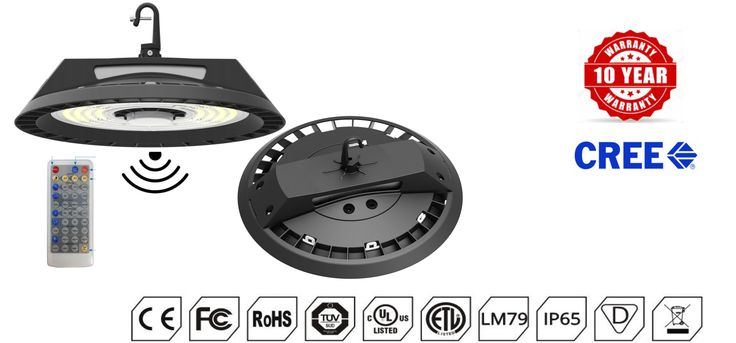 Features  •  Cree3030 LEDs, Meanwell/Sosen Driver •  System efficiency up to 140~150m/W standard, 180lm/W customize •  UGR<19 •  Ra≥80: 135Lm/W±6%       Ra≥70: 145Lm/W±6% •  Environmentally friendly, no mercury, No UV, No IR  •  90° beam angle •  IP65 rated ; for indoor use  •  Energy Efficiency Grade: A+ •  Quick Start instant 100% luminous flux •  10 Year Warranty (@25°C working environment)  •  Certificate: CE,RoHs,ETL,DLC,SAA,TUV  •  Body: Aluminium alloy  •  Stainless steel screws