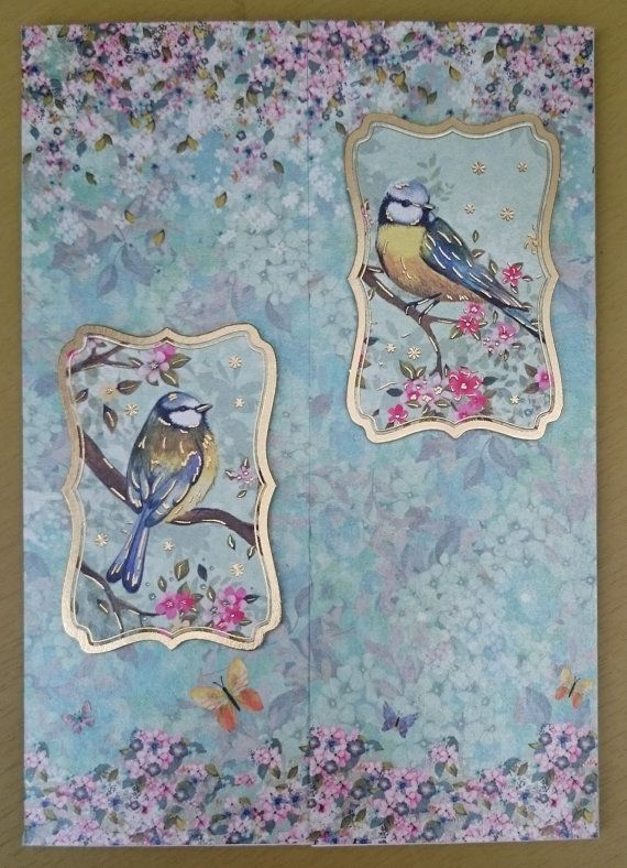 Handmade C5 Gatefold Greeting Card  Thinking of You by BavsCrafts