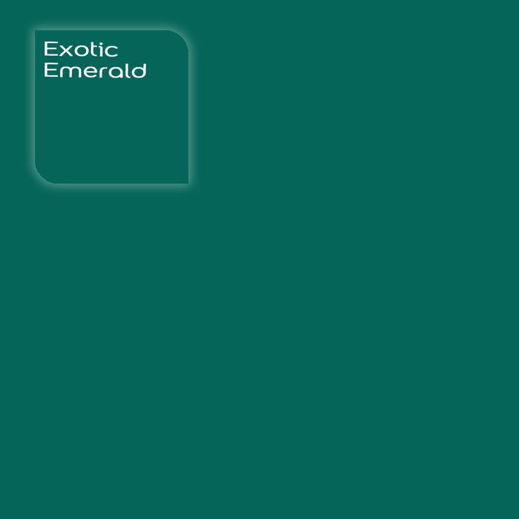Flexa Creations kleur: Exotic Emerald. Klik op de foto om een kleurstaal te bestellen.