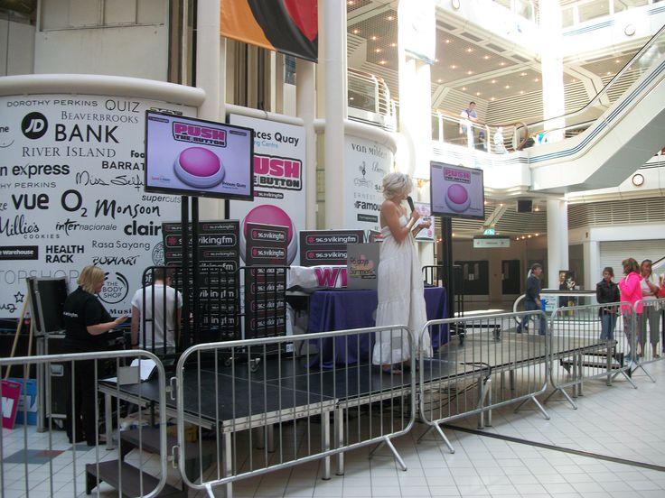 Viking FM Breakfast presenter Rosie Madison opening the event.