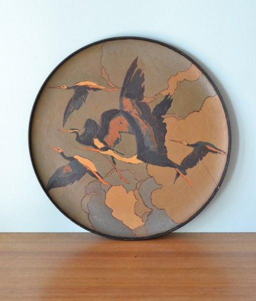 Antique Art deco Charger wall hanging plate