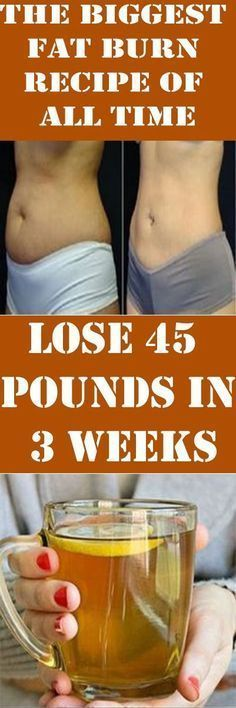 The Biggest Fat Burn Recipe of all time-Lose 45 Pounds in 3 Weeks~Handful of Parsley. 2 medium lemons 3 tablespoons of Apple Cider Vinegar. 5 tablespoons of grated ginger 3 tablespoons of cinnamon powder 1 litter of water