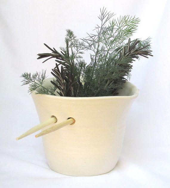 Elegant Fresh Herb Jug by VanillaStone on Etsy, $25.00