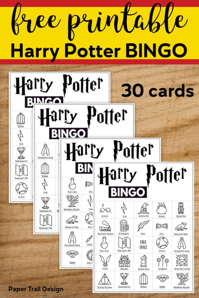 Free Printable Harry Potter Bingo Game With Images Harry