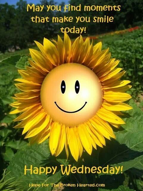 Happy wednesday, beautiful! Enjoy your day and smile :)
