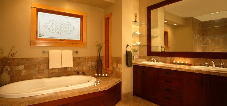 Rest sore muscles from your busy day in this soaker tub! Luxury living in Kelowna, BC!