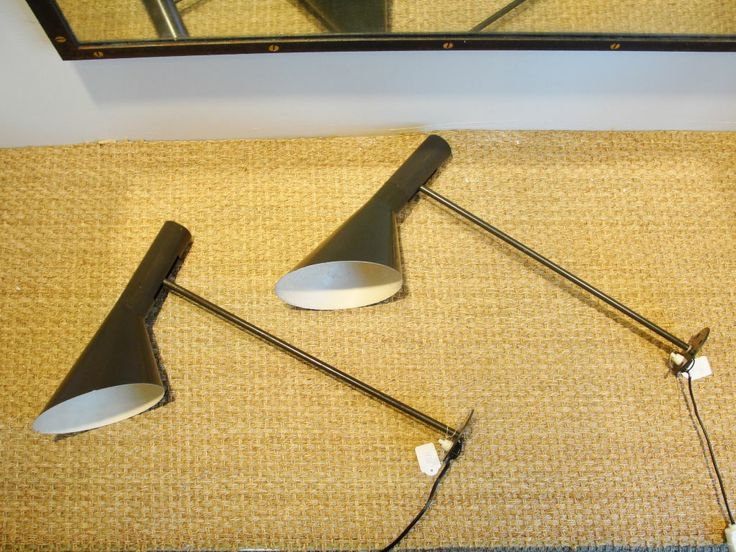 Pair of AJ Visor Wall Lamps by A. Jacobsen for Louis Poulsen