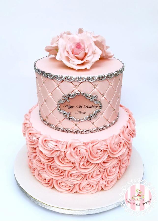 Brilliant 18Th Birthday By Sweet Surprizes Fancy Birthday Cakes 18Th Funny Birthday Cards Online Alyptdamsfinfo