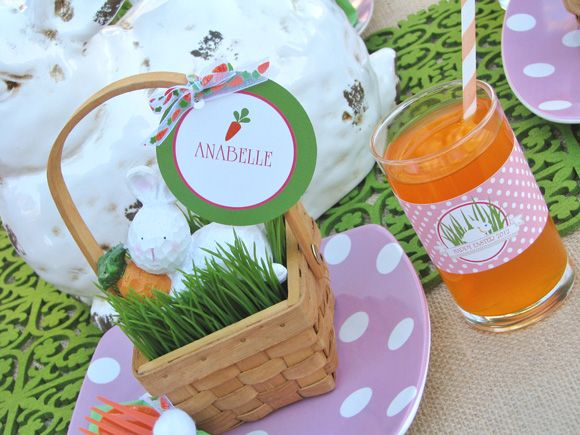 Adorable Easter Party place setting for kids!
