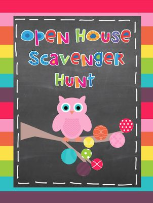 FREE $0 Open House Scavenger Hunt #Teacher at Owl-ways Be Inspired Pinned By www.FernSmithsClassroomIdeas.com
