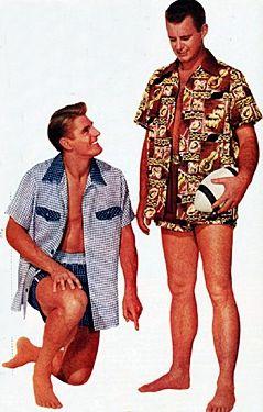 1950s mens swim trunks