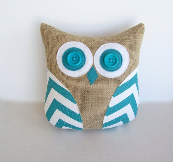 turquoise chevron pillow, decorative burlap pillow, rustic decor, blue and white animal pillow, chevron blue white nursery decor, dorm decor on Etsy, $36.00