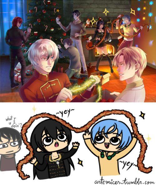 artemices:  O que é que 'cês dois tão fazendo? Imagem e personagens pertencem à Chinomiko.