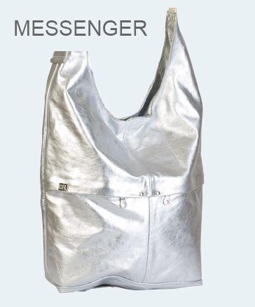Messenger bag owen barry  silver