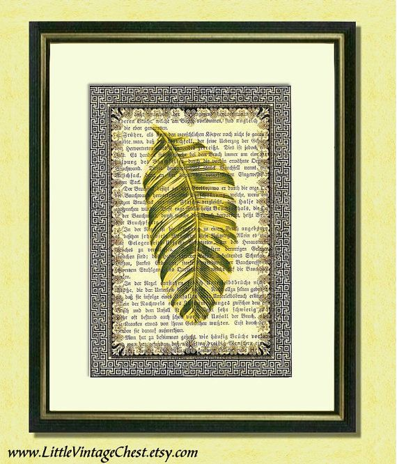 A Leaf From God's Book  1  Dictionary art by littlevintagechest, $7.99