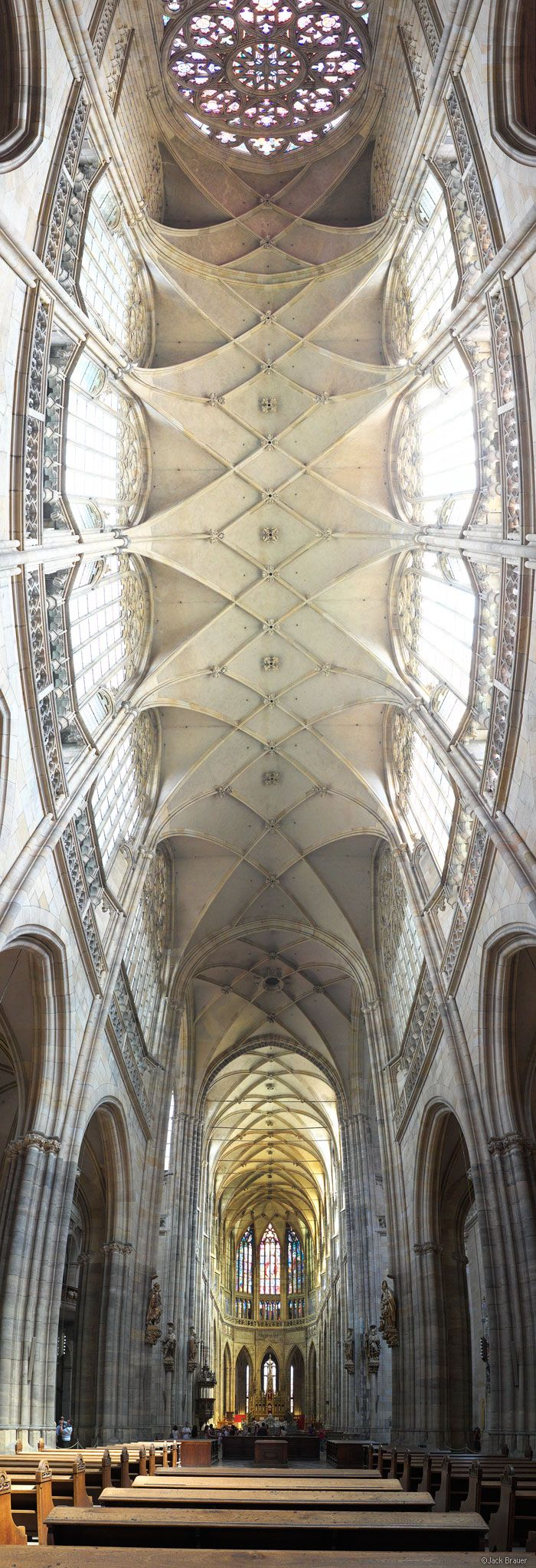 Link through: click Ceiling, St. Vitus Cathedral, Prague, Czech Republic