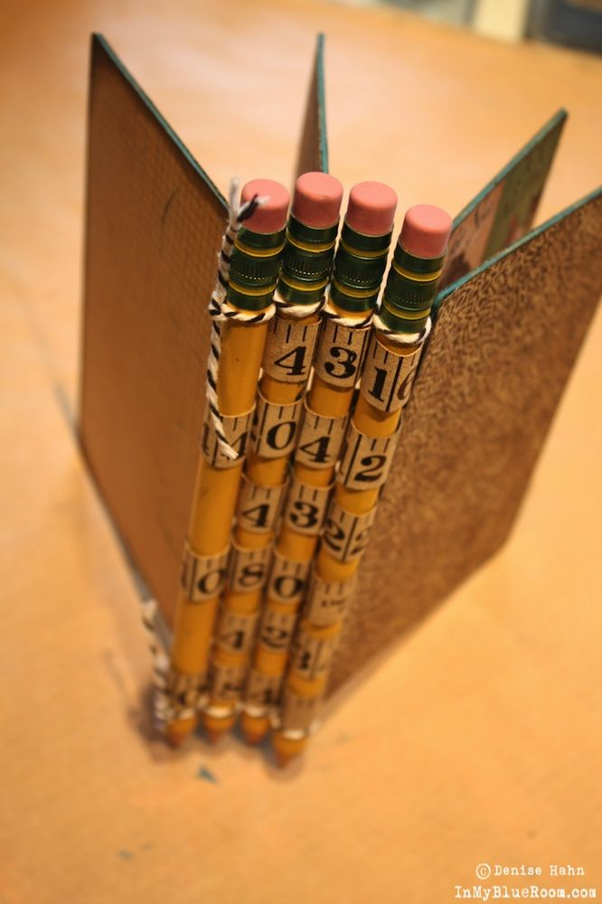 In My Blue Room: Graphic 45 Pencil Binding Tutorial -- Clever-this might be cute with some of the cute chopsticks out there now too???