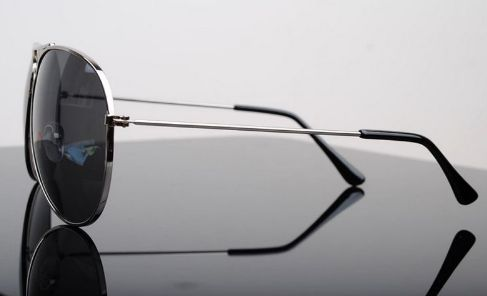 Pánské sluneční brýle - pilotky, černo stříbrné