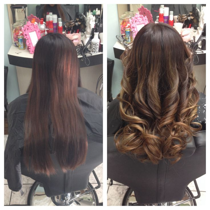 Haircolor by WELLA 5.71on roots 7.1 on midshaft Highlights lifted and toned  with 5.1 · Hair ColoursOmbre