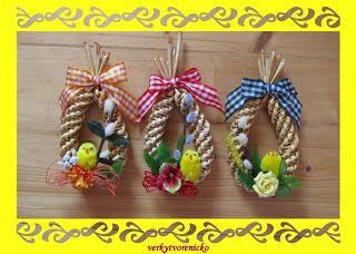 Věrky tvořeníčko: Velikonoce 2011 - pletené z papíru