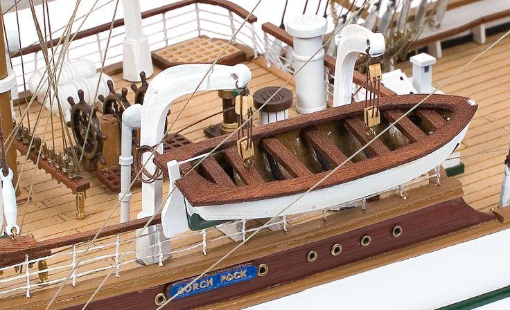 GORCH FOCK. Maqueta del buque escuela alemán.