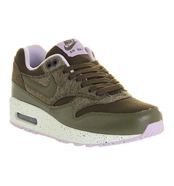 new arrivals d919c 2542f ... Nike Air Max 1 (l) Dark Loden Olive - Hers trainers ...