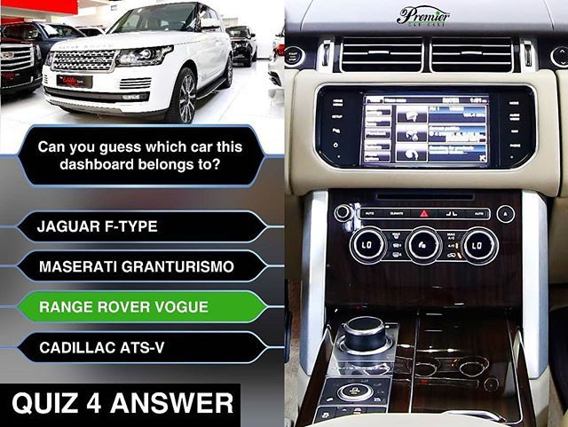 High Five To Those Who Chose Range Rover Vogue More Quizzes Coming So Just Stay Tuned To Us Carquizanswer Rangeroverdashboa Car Care Range Rover Car Quiz