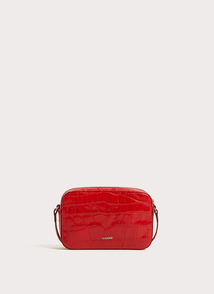 Uterqüe United Kingdom Product Page - Bags - Cross shoulder bags - Small mock croc leather crossbody bag - 115