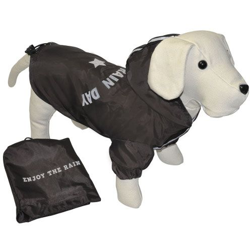 Imperméable pour chiens Enjoy the rain noir 13e