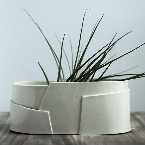 Porcelaine ovale grand planteur  Collection par taylorceramics