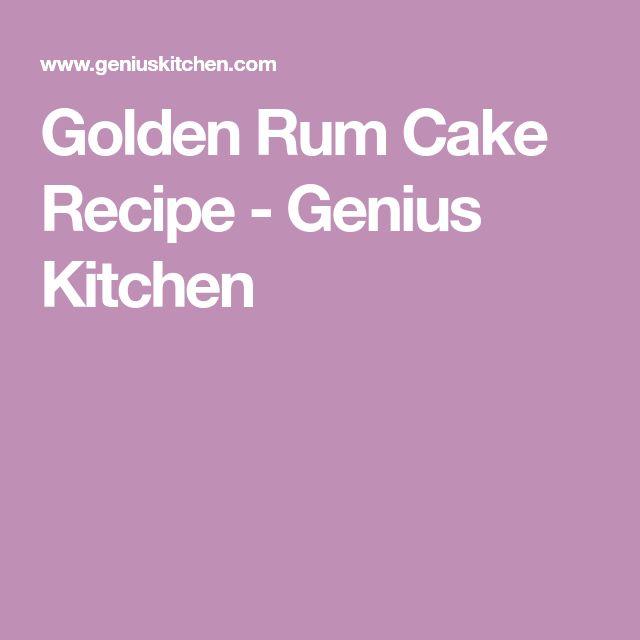Golden Rum Cake Recipe - Genius Kitchen
