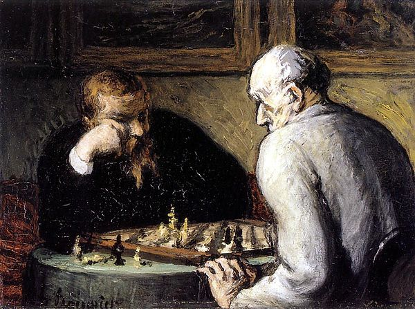 Honore Daumier - The Chess Players (1863)