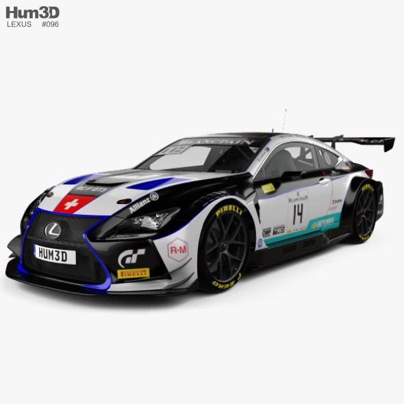 Lexus Rc F Gt3 2017 Lexus Car 3d Model Car