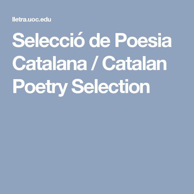 Selecció de Poesia Catalana / Catalan Poetry Selection