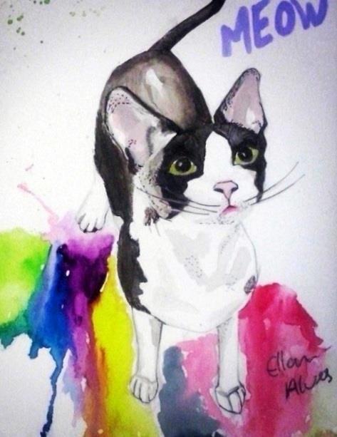 Cat. Watercolor
