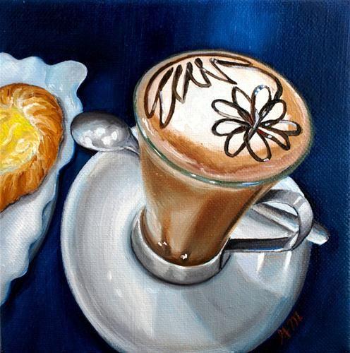 """""""Italian coffee"""" - Original Fine Art for Sale - © Gretchen Matta"""