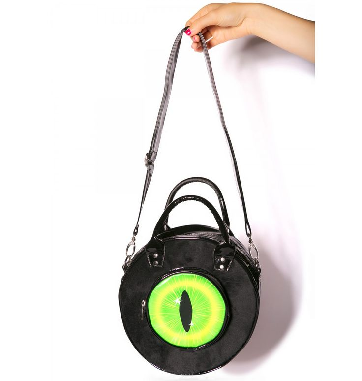 kreepsville 666 black cat eyeball bag - Halloween Handbag