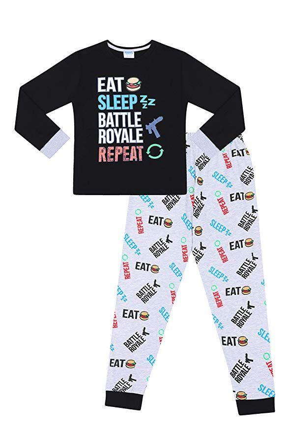 afc42b6967 Eat Sleep Battle Royale Repeat Gaming Cotton Long Pajamas (8 ...