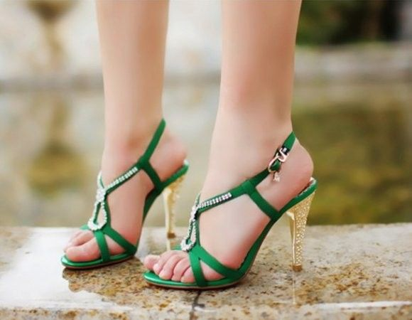diamond back strap party high heel sandals
