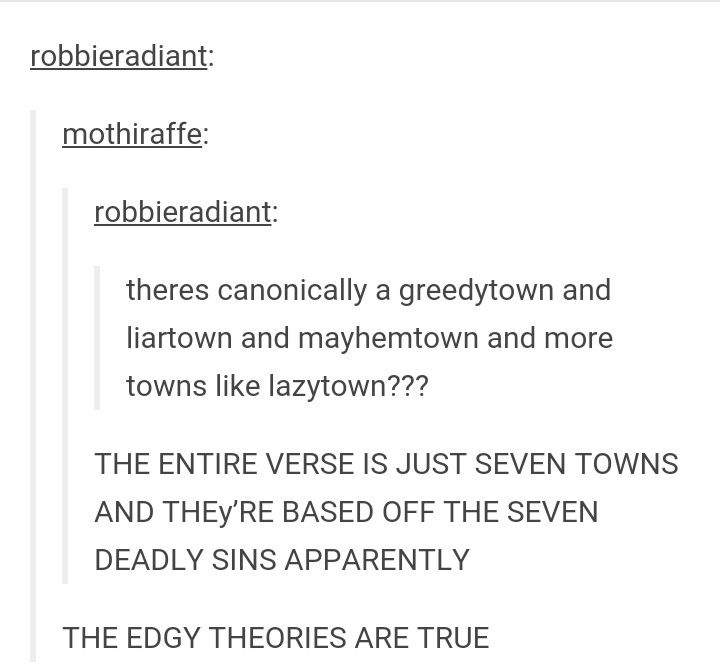 THEy'RE BASED OFF THE SEVEN DEADLY SINS APPARENTLY | lazy town